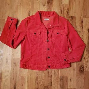 GAP Corduroy Jacket in Watermelon